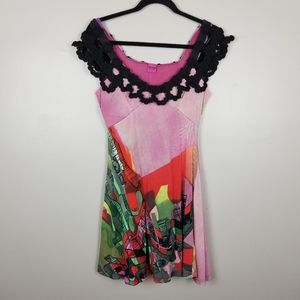 Save the Queen multi color dress, size L